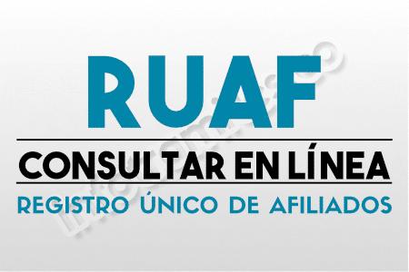 RUAF : Consultar afiliación a EPS, Pensión y Cesantías