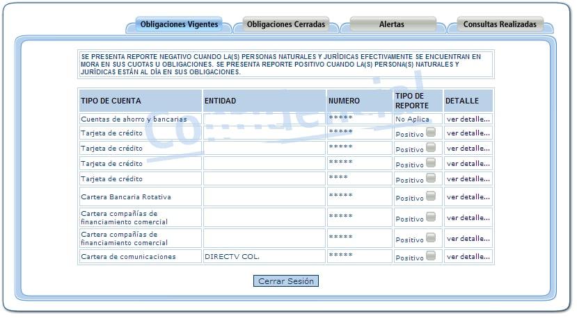 Consultar Datacrédito