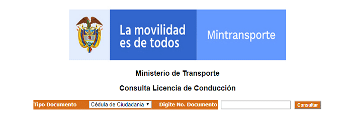 Licencia conduccion Miniterio