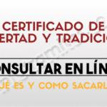 Certificado de Tradición y Libertad: Como sacarlo por internet  en persona