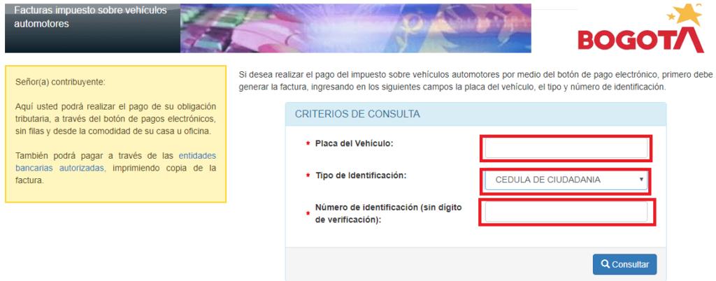 Bogota Impuesto Vehicular