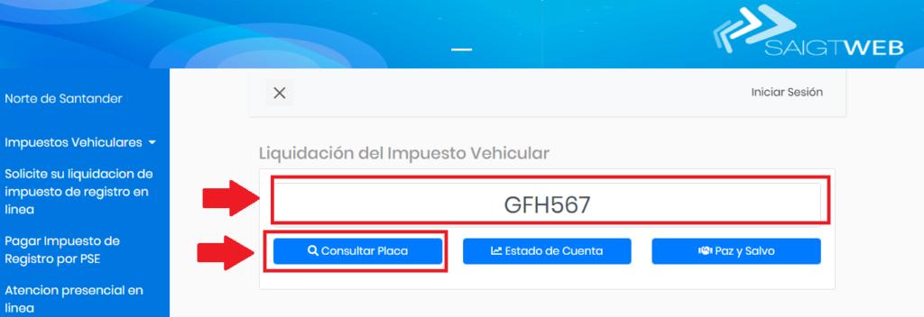Norte De Santander Como Consultar Impuesto Vehicular Por Placa