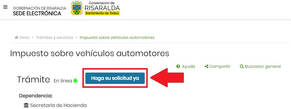 Risaralda Consulta Impuesto Vehicular