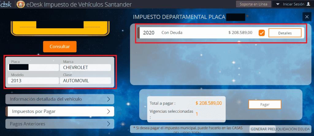 Santander Pagar Impuesto