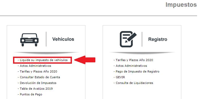 Cundinamarca Impuesto Vehicular