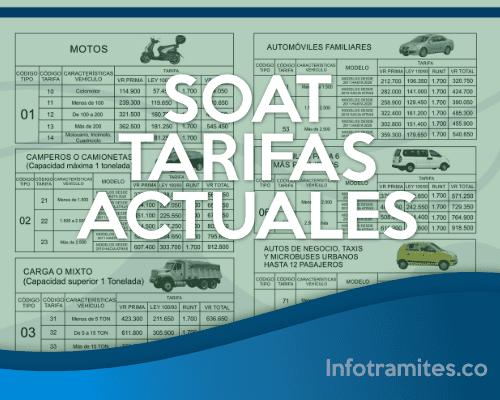SOAT-Tarifas