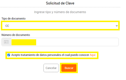 Seleccione Tipo Documento